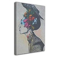 Skydoor J パネル ポスターフレーム バンクシー 女 鳥 インテリア アートフレーム 額 モダン 壁掛けポスタ アート 壁アート 壁掛け絵画 装飾画 かべ飾り 30×20
