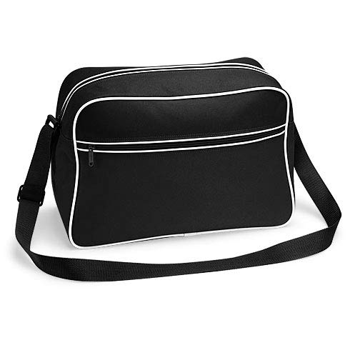 Bagbase Bolso de hombro retro en blanco y negro