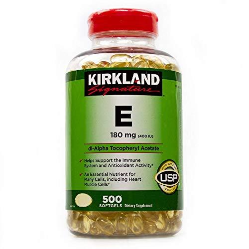 Kirkland Signature Vitamin E 400 I.U. 500 Softgels, Bottle