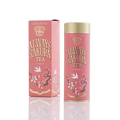 TWG Tea | Always Sakura Tea, Mischung grüner Blatttees in einer Haute Couture Geschenkdose, 100g
