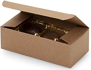 Set of 10 - 1/2 Pound Kraft Tan Candy Wedding Party Favor Boxes 5.5 Inch x 2.75 Inch x 1.75 Inch