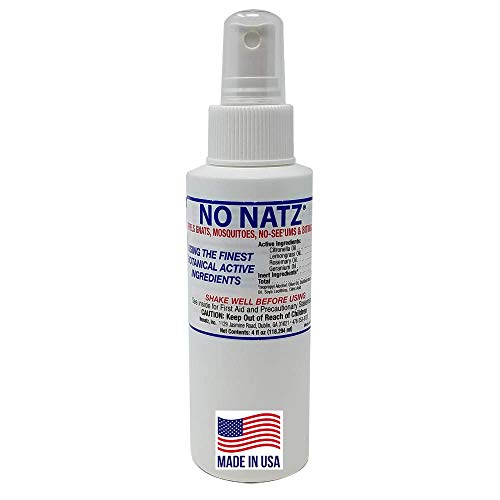 No Natz   Botanical Bug Repellant   Effective for Gnat, Mosquito and Biting Flies   Hand-Crafted DEET-Free Hypoallergenic   Non-Greasy Formula … (4fl.oz. - (Pack of 1))