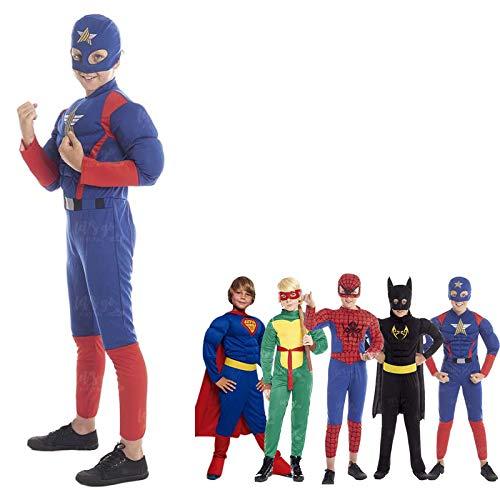 Disfraz Superhroe Star Nio EstrellaTallas Infantiles[Talla 5-6 aos] | Disfraces Nios Superhroes con Capa Antifaz Cosplay Hroes para Carnaval Halloween Cumpleaos Fiesta Disfraces