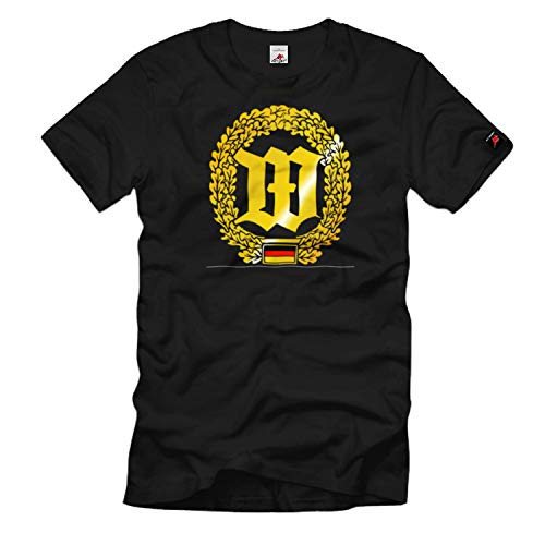 Barettabzeichen Wachbataillon Bundeswehr Wappen Emblem Einheit - T Shirt #1102, Größe:4XL, Farbe:Schwarz
