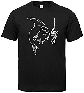 T-Shirts - men's clothing Fishing Novelty Funny T Shirt men casual cotton top Men's T-shirt Tee shirt homme oversized T-sh...