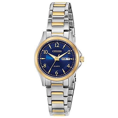 シチズン クォーツ レディース 腕時計 ステンレススチール クラシック ツートンカラー (モデル:EQ0595-55L)