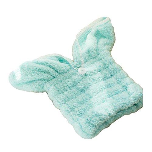 Bain de douche à séchage rapide d'oreilles de lapin belle Headwrap d'absorption d'eau forte