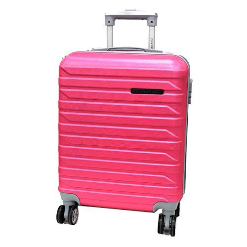 COVERI COLLECTION Trolley cabina valigia viaggio bagaglio a mano abs 8 ruote 8081-1 fuxia