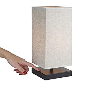 RESPONSIVE TOUCH LAMP: No longer deal with difficult switches or tangled cords. This personal lamp provides a bright light, turning on or off with a simple tap to any part of the base. Add a warm glow near your bedside or desk. Not wall switch compat...