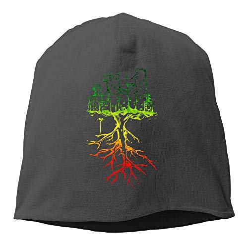 NA City Roots Rasta Reggae Roots Winter Beanie Skull Cap Warm Strick Skimütze Slouchy Hat Durable