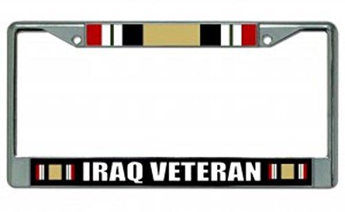 Iraq Veteran Chrome License Plate Frame