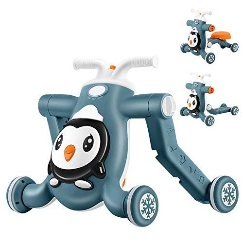 AJAMQ Andador para Bebés 3 En 1, Aprende A Caminar Scooter De Juguete Antivuelco Apto para Más De 8 Meses,Verde