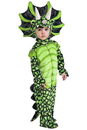 Toddler Boys T-Rex Dinosaur Costume Baby's Triceratops Cosplay Jumpsuit (2-4T, Green)