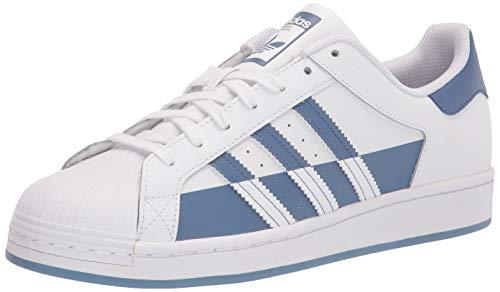 adidas Originals Superstar, Zapatillas Deportivas. Hombre, Blanco, Azul y Blanco, 44 EU