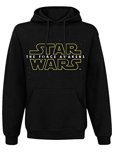 STAR WARS 7 - Sweat à Capuche The Force Awakens Logo Noir (L)
