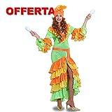 Brasiliana Costume Vestito Carnevale Donna Samba du Brasil Pegasus Completo di Accessori Come da Foto Tg. S - 42
