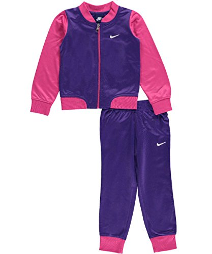 Nike Girls Two Piece Tricot Track Suit Jogging Suit (4T)