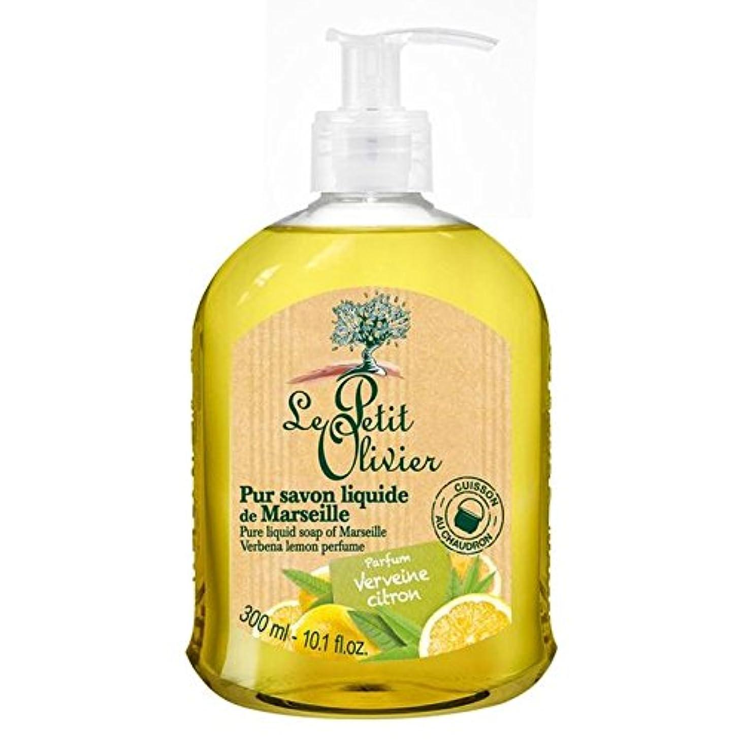 本物の医薬品新聞Le Petit Olivier Pure Liquid Soap of Marseille, Verbena Lemon 300ml - マルセイユのル?プティ?オリヴィエ純粋な液体石鹸、バーベナレモン300ミリリットル [並行輸入品]