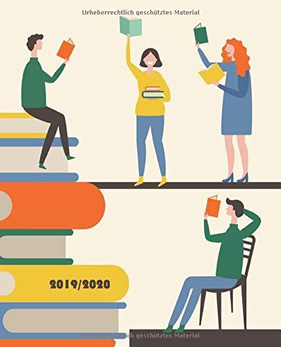 Akademischer Terminplaner 2019 2020: Der clevere Kalender mit Jahresübersicht, Monats- und Wochenplänen etc., Juli 19 - Juli 20, Motiv Moderne Bücherei