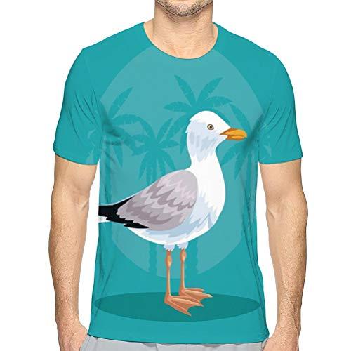 Cool Stylel Men Camiseta de Manga Corta Stork Beach Stork Beach Camisetas de Verano para Hombre L