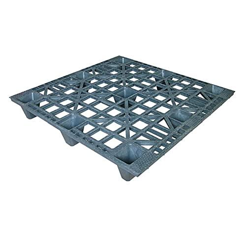 Pallet in plastica inseribile con piano forato, mis. 1200 L x 1000 P x 14,3 H mm, peso 6,5 Kg, portata dinamica 800 Kg, portata statica 1500 Kg