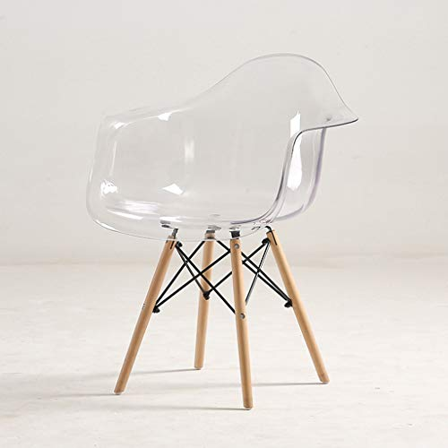 Strele Kreative Freizeit Armlehne Stuhl Kunststoff Kristall Transparent Esszimmerstuhl Einfache Moderne Mode Acryl Coffeeshop Büro Sessel,Durchsichtig