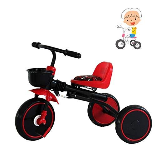 Triciclo juguete for montar el triciclo de niños de los niños de tres ruedas for niños triciclo niños triciclo triciclo fresco de la moda multi-funcional de los niños grandes del triciclo de diseño de