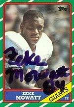 Zeke Mowatt autographed Football Card (New York Giants) 1986 Topps #145 - NFL Autographed Football Cards