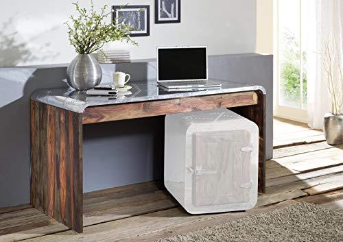 MASSIVMOEBEL24.DE Sheesham Massivholz massiv Möbel geölt Schreibtisch Palisander Möbel massiv Holz Pure Sheesham Strong Grey #780