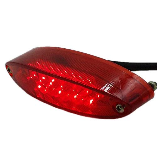Motorrad LED Brems Stopp Rücklicht ATV Dual Sport Quad Bobber Arctic Katze UTV Custom. (rot)
