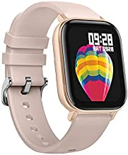 P8 Smart Watch with Heart Rate Sleep Monitor Bluetooth Music Control All-Day Activity Step Counter Smart Bracelet Compatible with Android iOS Phones for Women Men (Gold)