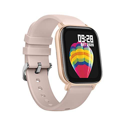 FossenMA P8 Smartwatch, Reloj Inteligente con Pulsómetro, Cronómetros, Calorías, Monitor de Sueño, Podómetro Monitores de Actividad Impermeable IPX7 Smartwatch Reloj Deportivo para Android iOS (Oro)