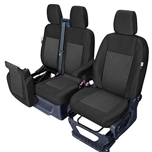 Fundas de asiento hechas a medida compatibles con Ford Transit a partir de 2014 y a partir de 2019.
