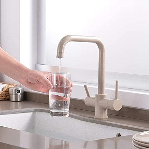 Rotación de 360 grados latón beber agua filtrada grifo de la cocina curva y doble ángulo recto y ángulo recto grifo fregadero de la cocina avena 2-avena_1