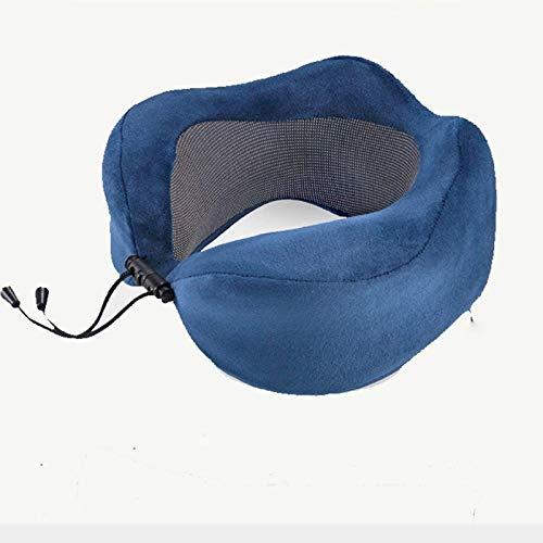 JONJUMP Almohada de viaje en forma de U de espuma de memoria Almohada cervical cómoda almohada dormir plegable para el cuello del cojín del avión
