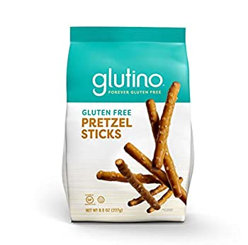 Gluten Free by Glutino Pretzel Sticks Delicious Everyday Snack Lightly Salted 8 Ounce