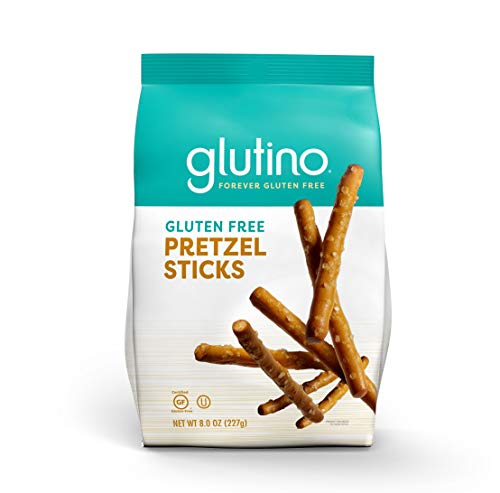 Gluten Free by Glutino Pretzel Sticks, Delicious Everyday Snack, Lightly Salted, 8 Ounce