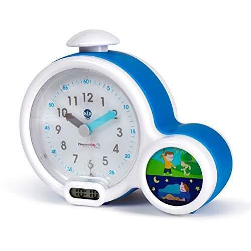 Pabobo Kid Sleep - Wecker - pädagogische Kinderwecker Tag / Nachtlicht - Doppelanzeige und 3 Alarme zu wählen - funktioniert auf Gleichstrom oder Batterien - blau