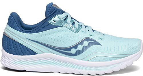 Saucony Women's S10551-25 Kinvara 11 Running Shoe, Aqua/Blue - 7.5 M US