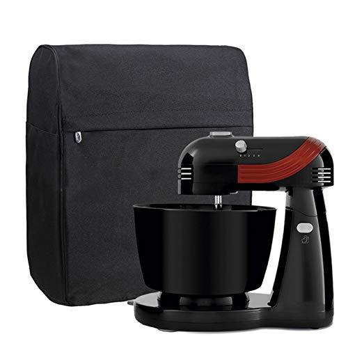 Standmixer-Abdeckung, Staubschutz mit 3 Reißverschluss-Taschen für zusätzliches Küchenzubehör, Haushaltsmixer-Schutz, passend für alle 5,7 und alle 7,6 Liter Mixer (schwarz)