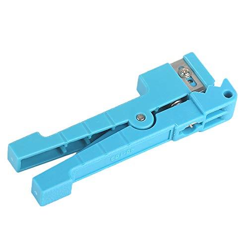 TOOGOO 45-163 Herramienta De Corte De Cable De Tramo Medio Separador De Fibra óptica Cortador De Tubo Suelto Azul