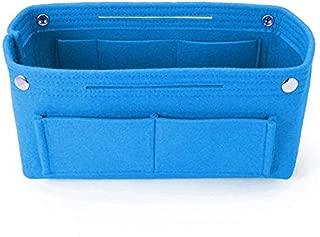 TOOGOO Blue Women Fashion Felt Cloth Inner Bag Fits in Insert Handbag Multi-Pockets Cosmetic Bags Storage Personal Belongings Organizer