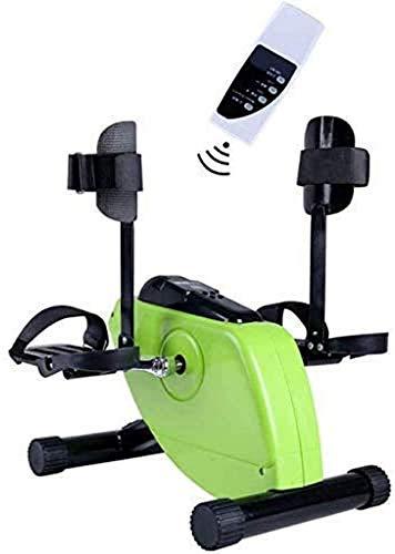 ZZTX Ejercitador de Pedal eléctrico para Entrenamiento de Miembros Superiores e Inferiores, Bicicleta de Ejercicios pasiva Activa con Monitor LCD y Control Remoto, para Personas Mayores y Mayores