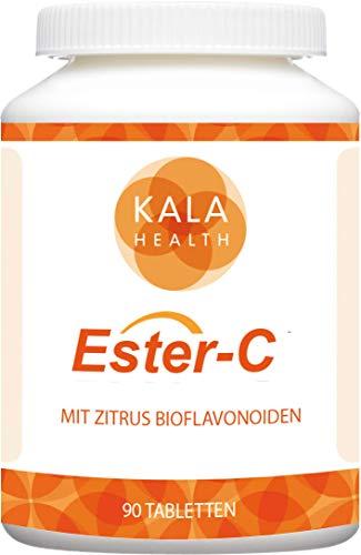 Kala Health - Ester-C® 90 Tabletten 1000 mg hochdosiertes Calciumascorbat mit Vitamin C-Metaboliten und 100 mg Zitrus-Bioflavonoiden ist die stärkste Form von Vitamin C - Trägt zum Immunsystem bei
