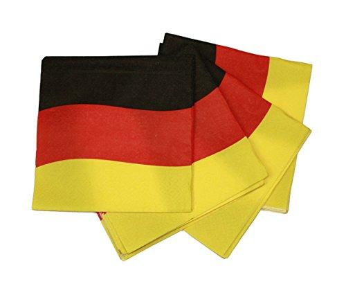 HAAC 20er Set Servietten 3lagig 33x33 cm Schwarz Rot Gold Deutschland Fußball EM 2016