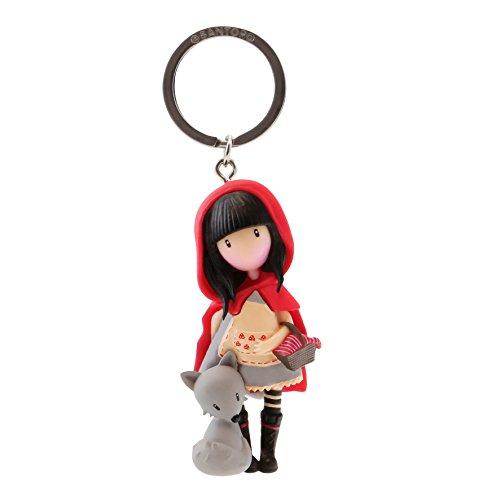 Gorjuss - Portachiavi per bambola Little Red Riding Hood, colore: rosso, taglia unica (82076619830)