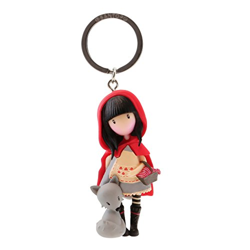 Gorjuss- Llavero Muñeca Little Red Riding Hood, Color Rojo,