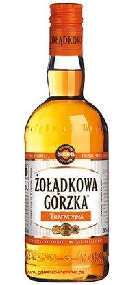 Polnischer Traditions Wodka Polnischer Wodka Zoladkowa Gorzka Polska Wodka 0,7 Liter