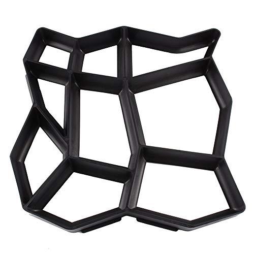 Nfudishpu Gipsform Garten Gehweg Gussform Steinputz Schalung Schablone, DIY Form Für Wohnzimmer, Flur