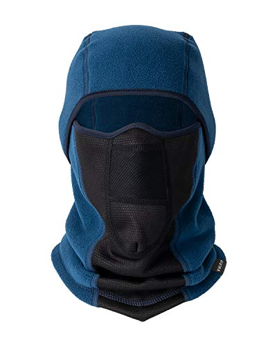 VULKIT Pasamontañas Moto Invierño Impermeable, Máscara de esquí de Invierno para Hombres Mujeres Motociclismo, Esquí, Azul